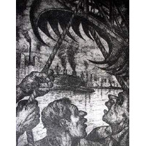 Arte Argentino : Quinquela Martin - La Grampa ( Aguafuerte )