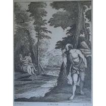 Antiguo Grabado Enmarcado Con Vidrio Verones Rapto Deyanira.