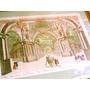Antiguo Grabado Coloreado Siglo 18 Palacio Artes Roma