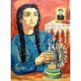 Arte Argentino : Berni, Antonio - Serigrafía En Tela Firmada