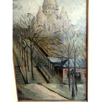 Hermoso Cuadro Oleo Sobre Carton Gaston Jarry Paris 1921
