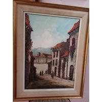 Cuadro Pintura Oleo Impresionista Pintor Alcantara Año 1981