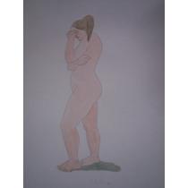 Hermoso Desnudo De Juana Elena Diz, 50 X 35.
