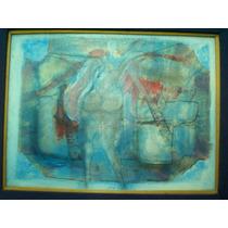 Fabian Galdamez, Figura En Azul, 25 X 30