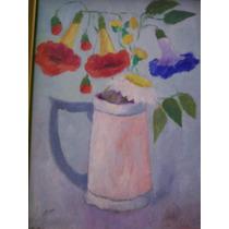 Jose Luis Menghi, Flores En Jarra, 20 X 25