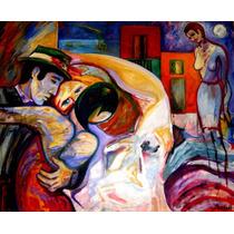 Tango Óleo Original Arte Argentino Raquel Sarangello