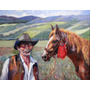 Nº 33 - El Gitano Y Su Caballo - Óleo De Julio Ducuron