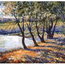 Impresionismo En El Estanque - Óleo De Julio Ducuron