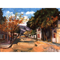 Nº 41 - Villa De Merlo.san Luis - Óleo De Julio Ducuron