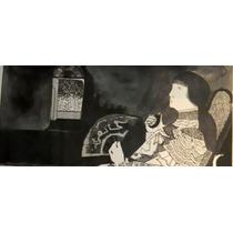 Nº 214 - Mujer Con Mate - Litografía De Héctor Basaldúa