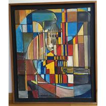 Cuadro Pintura Original Óleo 86 Cm X 73 Cm Enmarcado