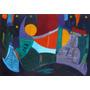 Pintura Abstracta De Anuncio Iramain - La Noche Alegre