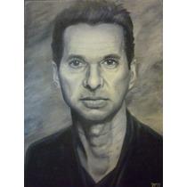 Dave Gahan Retrato Al Oleo (depeche Mode)