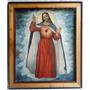 Oleo Sobre Tela Cuadro Sagrado Corazón De Jesús 70 X 60