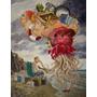 La Playa, Surrealismo, Pintura Oleo Sobre Lienzo 100x75cm