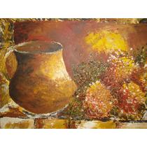 Pintura Oleo S/ Bastidor Tela. Obra Texturada.arte Moderno