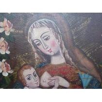 Pintura Virgen De La Buena Leche Santa María Niño Cuzqueño