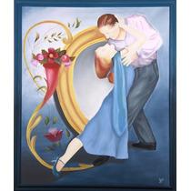 Óleo Bailarines De Tango