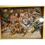 Cuadros De Arte Francés Tridimensional - Tigres - Leones
