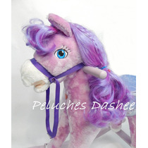 Caballo Pony Mecedor Peluche Con Sonido, Luz Y Movimiento