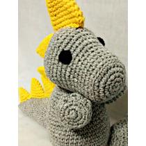 Dinosaurio Amigurumi - Tejido Al Crochet - Original Regalo