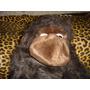 Peluche Mono Marron Oscuro Con Gorra Mide 50 Cm.