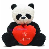 Oso Panda De Peluche Grande Ideal Regalo Día San Valentin!