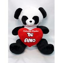 Oso Panda Peluche Grande Con Corazon Importado Extrasuave