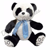 Oso Panda De Peluche Importado Con Bufanda
