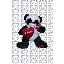 Peluche Oso Panda Con Corazon!! - Grande