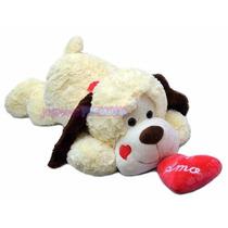 Perro Peluche Gigante Acostado Grande Ideal Regalo Romantico