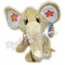 Elefante De Peluche Para Bebe Celeste Rosa Hipoalergenico