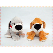 Perritos Mini Peluche 22cm Con Collar