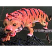 Tigre Rey Depredador Goma Juguete Plastico 30cm! Super Real