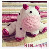 Vaca Tejida A Crochet - Elida A Tejer!