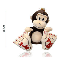 Peluche Mono Con Patas Grandes Importado Novio Novia 36 Cm