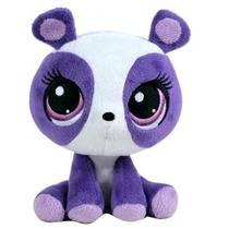 Peluche Pet Shop 16cm Violeta Y Blanco