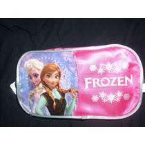 Frozen Ana Y Elsa - Cartucheras /neceser 2 Cierres-licencia