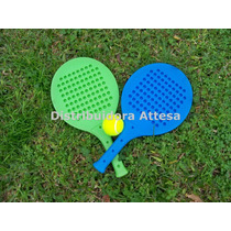 Juego 2 Paletas Paddle Con Pelota De Tenis. Serabot.