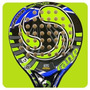 Paleta Padel Sane Ips Agressor Carbon Eva Redonda 38mm Local
