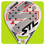 Paleta Padel Steel Custom Air Silver Carbono Funda + Regalo