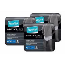 3 Pañal Adulto Hombre Proteccion Active Fit Plenitud G/xg