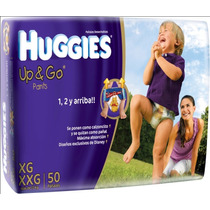 Pañales Huggies Up And Go Grande X 60 4 Paquetes