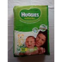 ¡oferta! Hiperpack Pañales Huggies Active Sec M G Xg Y Xxg