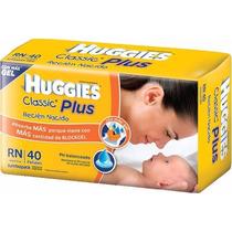 40 Pañales Huggies Classic Plus Recién Nacido