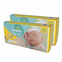 2 Packs Pañales Pampers Recien Nacido