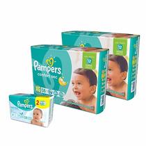 2 Hiperpack Pampers Confort Sec Xg + Toallitas Fresh Clean
