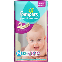 Pañales Pampers Premium Care M X 52
