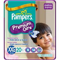 Pañales Pampers Premium Care Xxg 20 El Mas Barato Por Pañal