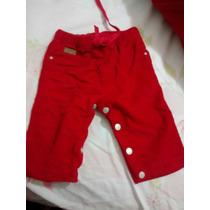 Pantalón Corderoy Rojo Pañalero Minimimo! Talle M
